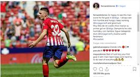 Torres dedicó unas palabras al canterano Borja Garcés. Instagram/FernandoTorres