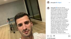 Gayà confirmó que dio positivo en coronavirus. Instagram/jose_gaya