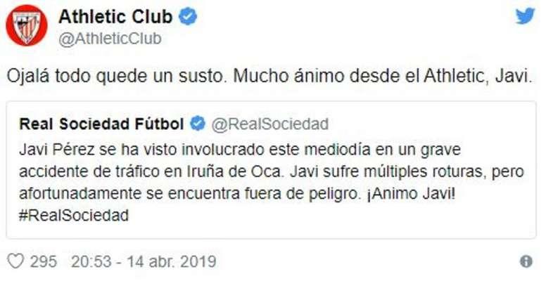 El Athletic se solidarizó con el secretario técnico de la Real. Twitter/AthleticClub