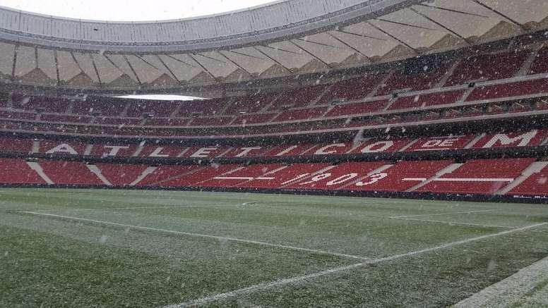 Le Wanda Metropolitano est blanc. Twitter/NEstadioAtleti