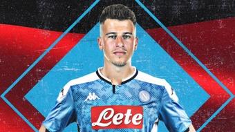 Diego Demme vive sua segunda temporada no Napoli. Twitter/SSCNapoli