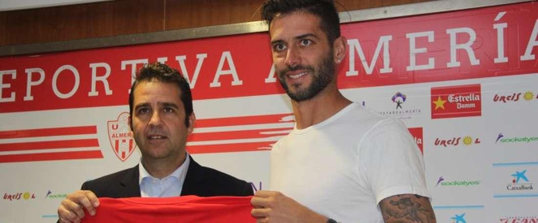 Ernesto 'Teto' Goñi se mostró sorprendido por el nivel de la Segunda. UDAlmeriaSAD