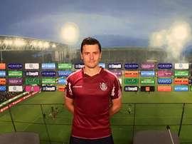 El nuevo futbolista del Cluj rumano Laurentiu Rus.  Facebook/cfr1907