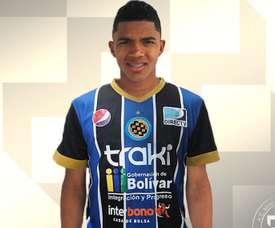 El nuevo jugador de Mineros de Guayana, Pedro Valdés, en la foto oficial de su presentación. ACCDMinerosDeGuayana