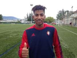 El delantero ecuatoriano se suma a las filas del filial de Osasuna. Osasuna