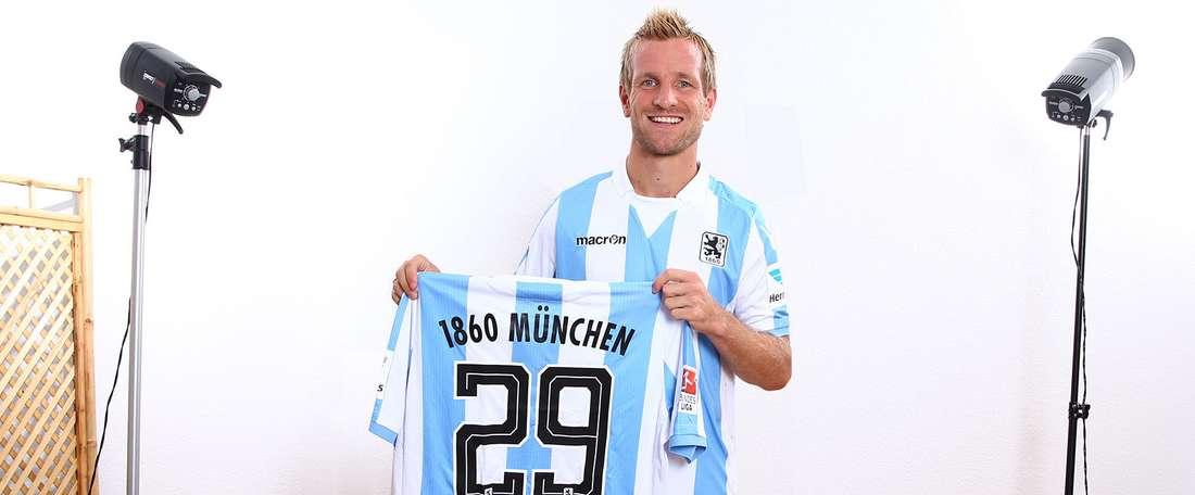 El nuevo jugador del 1860 Múnich, Stefan Aigner. TSV1860