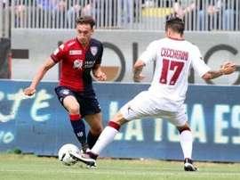 El nuevo jugador del Crotone Ceccherini, en un partido con el Livorno. LivornoCalcio