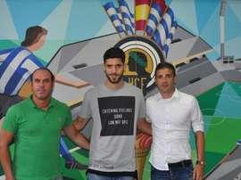 Fernando Román, ilusionadocon su llegada al Hércules. Twitter/CFHercules