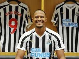 Rondon is on loan at Newcastle. Twitter/SalomónRondón