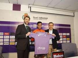 Borja Herrera llegó a Valladolid con ganas de agradar. Twitter/RealValladolid