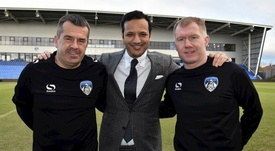 Scholes at the start of his reign with chairman Abdallah Lemsagam. OldhamAthletic