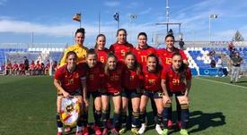 España se estrenó con goleada 3-0 ante Escocia. Twitter/SeFutbolFem