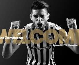Zambrano defenderá la camiseta del PAOK. Twitter/PAOK_FC