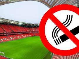 El Parlamento Vasco prohíbe fumar en los estadios de fútbol. PuntoPelota