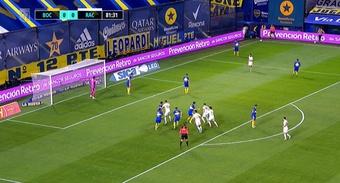 El partido entre Boca y Racing acabó sin ocasiones claras en ningún lado. Captura/Fanatiz
