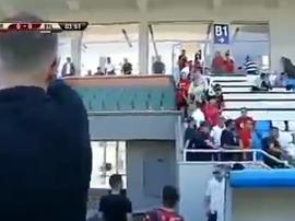 Terremoto suspende partida na Albânia. Twitter/Sanguinoski_96