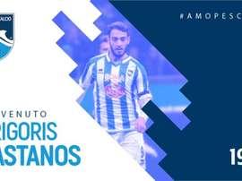 Kastanos jouera en Serie B cette saison. Twitter/PescaraCalcio