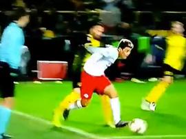 Berisha made no mistake from the spot. Screenshot