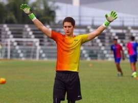 El portero australiano Stefan Petrovski, en un entrenamiento con el Melaka United. ESPN