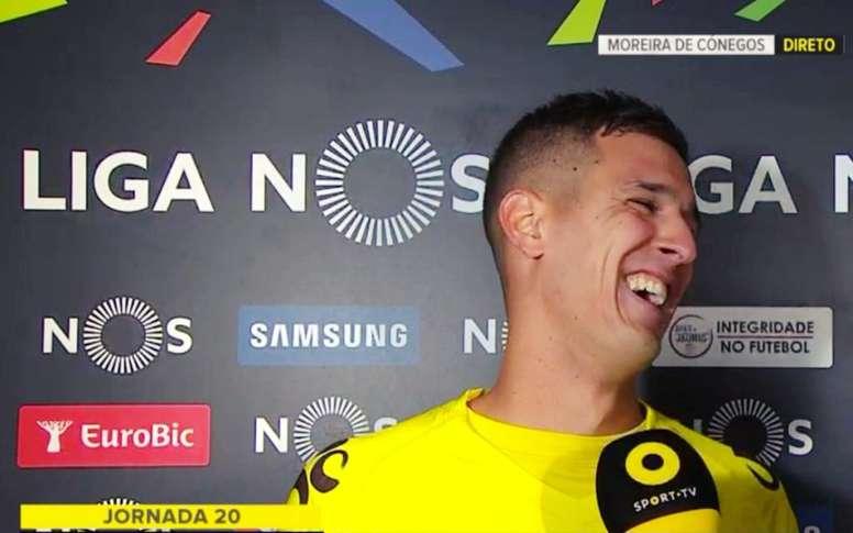 Jhonatan protagonizó la anécdota de la jornada en la Liga de Portugal. Twitter/TomKundert