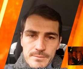 Casillas envoie un message émouvant à un gardien. Captura/MarcaTV