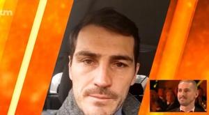 Casillas manda mensagem emotiva. Captura/MarcaTV