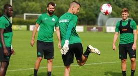 Vlachodimos podría jugar en Portugal la siguiente temporada. Twitter/OdysseasVlachodimos