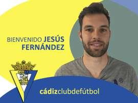 El portero Jesús Fernández, nuevo fichaje del Cádiz. CádizCF