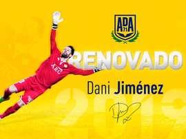 Dani Jiménez renueva con el Alcorcón. ADAlcorcón