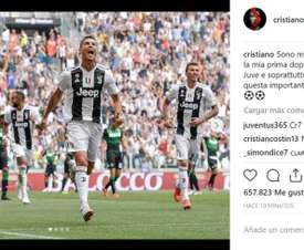 Cristiano meteu dois e afastou o jejum. Instagram @Cristiano