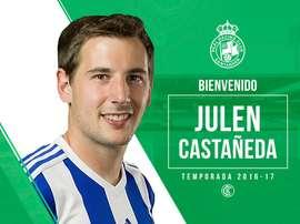 El Racing dio la bienvenida a Julen Castañeda. RealRacingClub