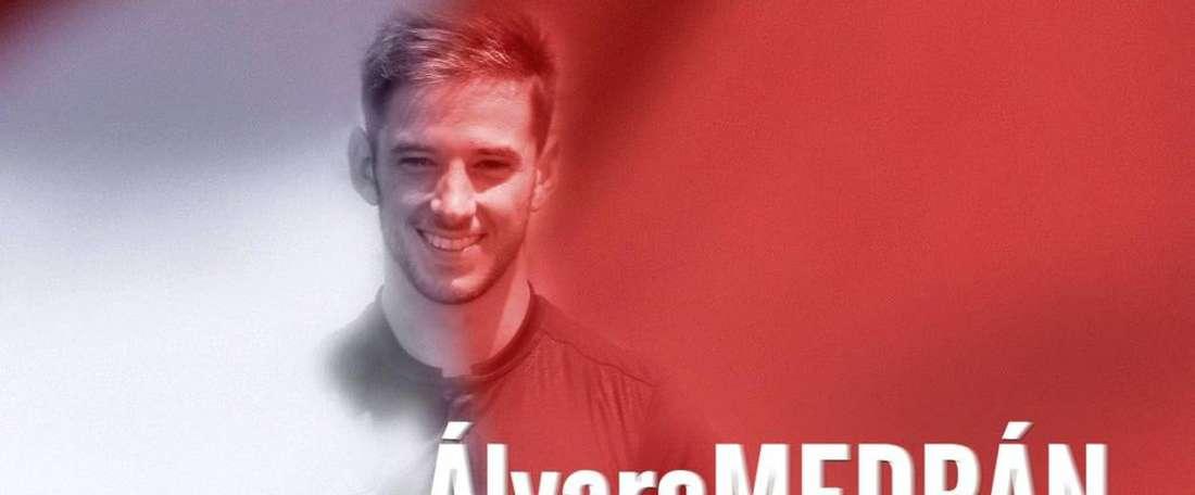 Medrán signe au club de Vallecas pour la prochaine saison. Twitter/RayoVallecano