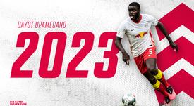 Upamecano renova até 2023. Twitter/DieRotenBulen