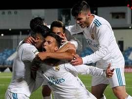 El Real Madrid acabó con el Rápido de Bouzas en la segunda mitad. Twitter/LaFabricaCRM