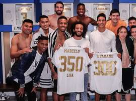 Marcelo e Varane viveram um jogo especial contra o Sevilla. RealMadrid