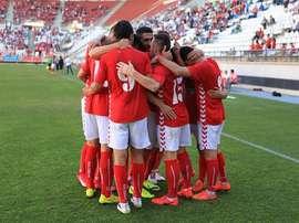 El Real Murcia, disputando un partido. Twitter