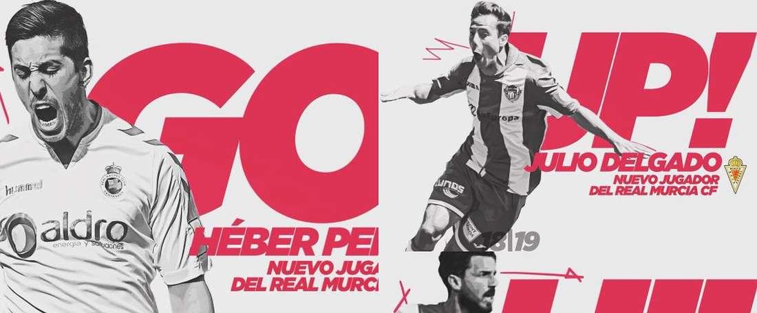 El Murcia presenta cinco fichajes para la próxima temporada. Twitter/RealMurcia