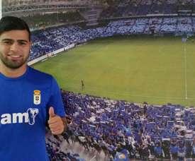 El uruguayo llegó al Oviedo como cedido. RealOviedo