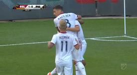 El Real Salt Lake dio la sorpresa al vencer al líder del este. Twitter/MLS