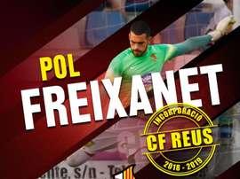 Pol Freixanet, nuevo jugador del Reus. CFReusDeportiu