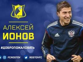 Aleksei Ionov defenderá la camiseta del Rostov. Twitter/RostovFC