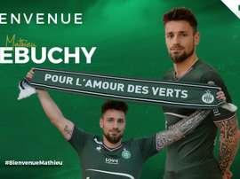 El Saint-Étienne anunció la incorporación de Debuchy. ASSE