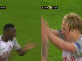 El Salzburgo igualó la eliminatoria en 12 minutos. Captura/beINSports