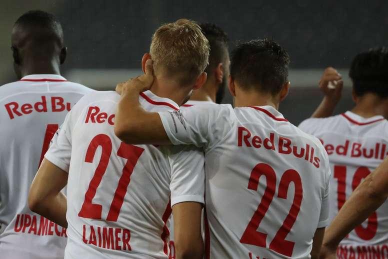 gol ao minuto 90+4, dá empate ao Salzburg. FCRedBullSalzburg