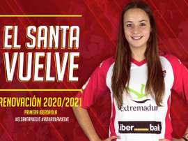 El Santa Teresa volverá a Primera. Twitter/SantaBadajoz