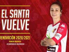 Amplía un año más su contrato. Twitter/SantaBadajoz