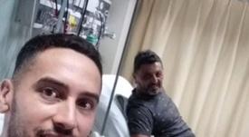 El fanático de Colón se operó tras la final de la Copa Sudamericana. Instagram/ggonzaherrera