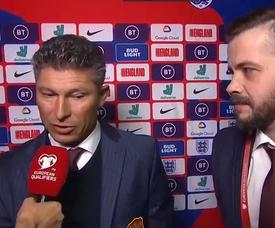 Balakov denied hearing racist abuse. Captura/ITV