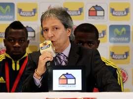 Carlos Restrepo habló de la difícil situación que vive el fútbol argentino. EFE
