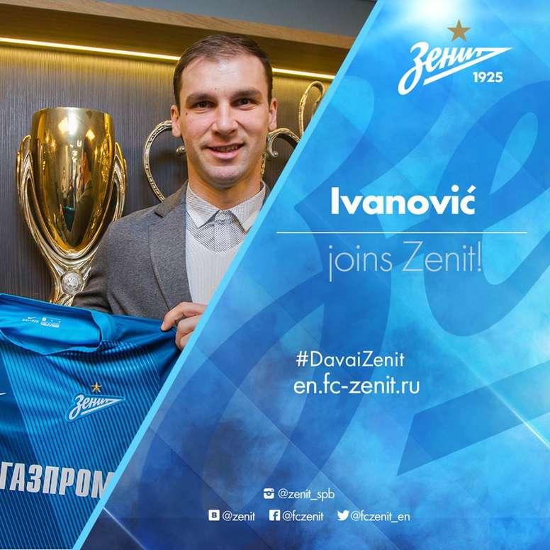 Le Zenit Saint-Petersbourg annoncé l'arrivée de Branislav Ivanovic. FCZenit
